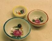 Vintage Dish Set Dollhouse JAPAN Decorative Bowls