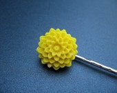 Luxe - Yellow Mum Flower Bobby Pin - Mix and Match