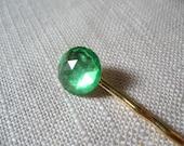 Peridot Rhinestone Bobby Pin, Lime Green Crystal Hair Pin, September - Mix and Match