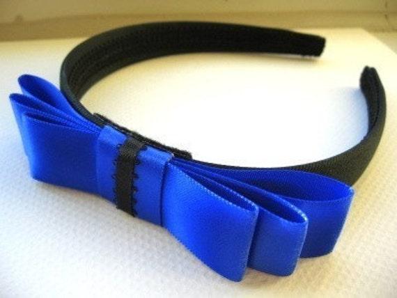 Cobalt Blue Dior Bow Headband