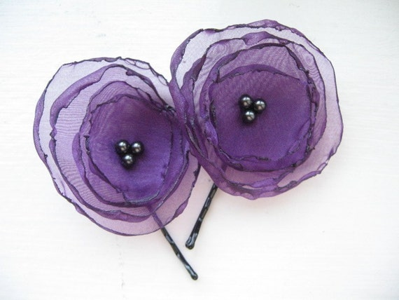 Purple Organza Blossoms