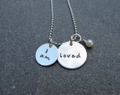 I am loved necklace gift for Mom Grandma Hand Stamped Jewelry