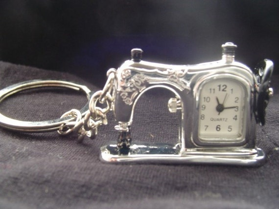 sewing machine WATCH key chain time to sew perfect gift for a SEAMSTRESS