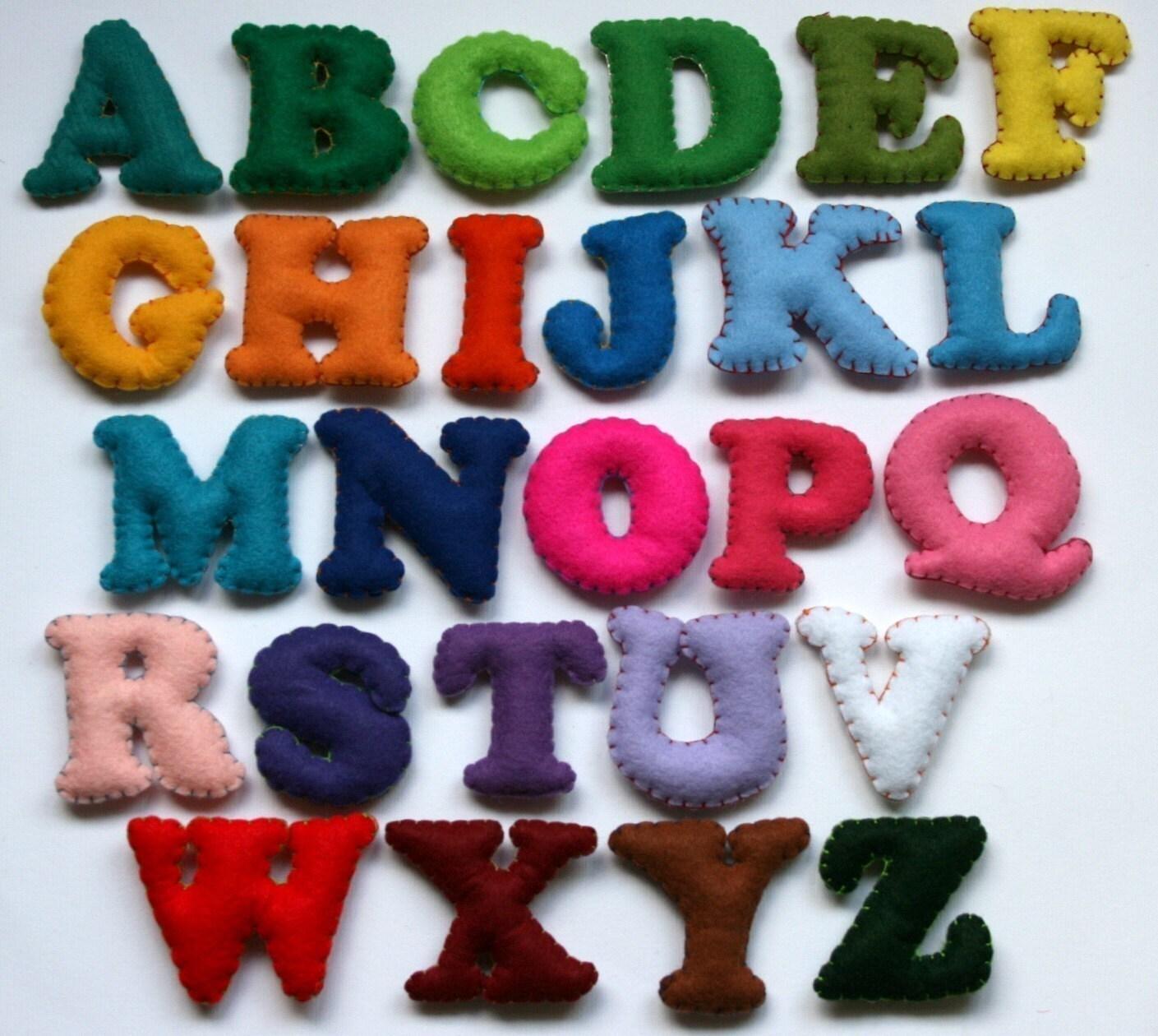alphabet set 26 stuffed felt letters upper case fancy With stuffed felt alphabet letters