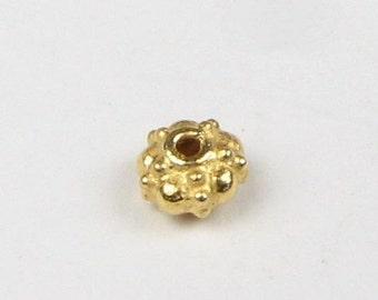 Bali Vermeil Spacer Rondelle Beads (4 pieces)