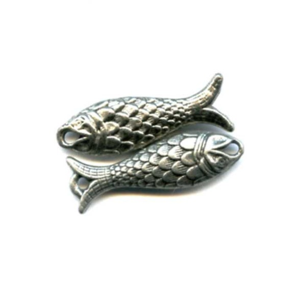 Cast Pewter Double Sided Fish Charms