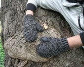 Black Friday Etsy - Chunky Mittens For Men - Taupe And Gray