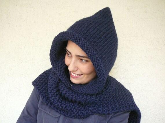 Winter SALE %40 Navy Blue Hood
