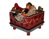 Red Bones Pet Toy Box Original Size by Jakey BB