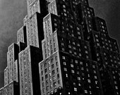 Carbon Print No.19 - NYC Gotham Film Noir Style 5x7.5 Black & White Building with Many Windows Photo Print