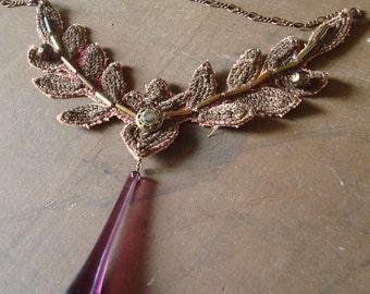 Baroque Pendant Necklace with Vintage Elements