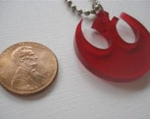 Nice Transparent Red Rebel Alliance Icon Acrylic Pendant