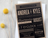 Modern Vintage Playbill Wedding Invitation