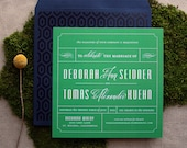 Completely custom wedding invitation design, from scratch suite
