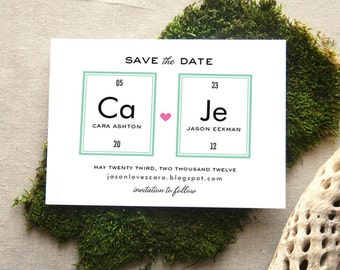 Periodic Table Save the Date