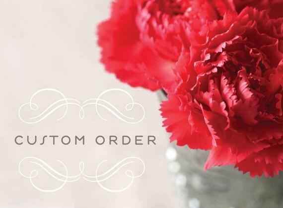 custom order for Jeanann