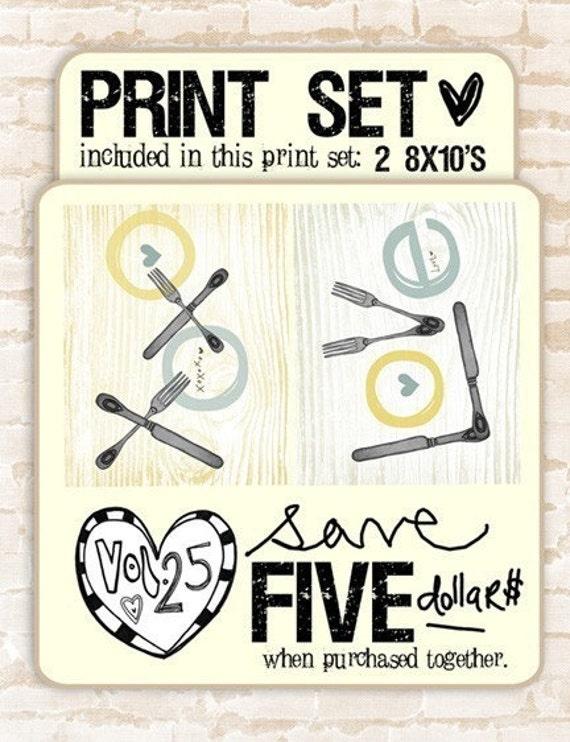 xoxo love- print set- buy together and save
