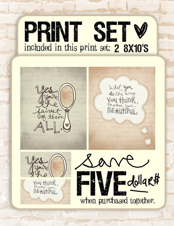 powder room series- print set- buy together and save