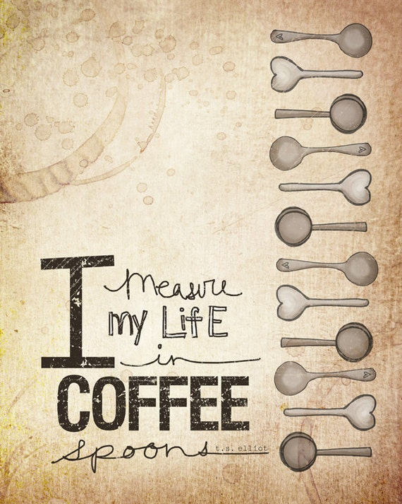 Coffee Spoons- Beautifully textured cotton canvas art print. Order as an 8x10 11x14 or 16x20 size.
