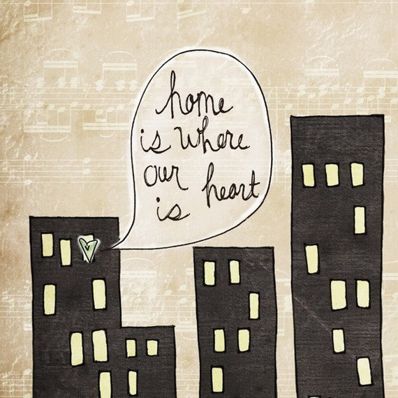 Home is where our heart is- vanilla