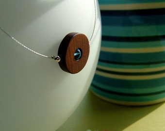 Simplicity necklace - customizable wooden circle necklace
