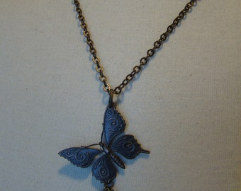 All Brass Butterfly Mothers Necklace