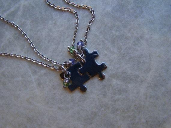 PUZZLE PIECE Best Friend Necklaces, Mother Daughter Necklaces, Sisters , Couples Necklaces