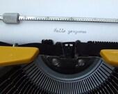 CURSIVE  Vintage Typewriter Olivetti for Montgomery Ward Escort 55 Bright Yellow 1973