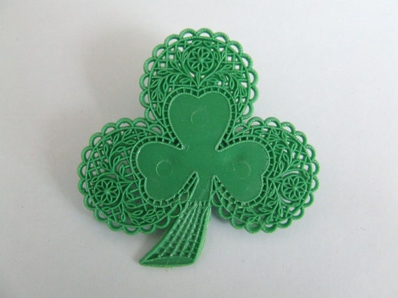 Shamrock Pin St Patricks Day Irish