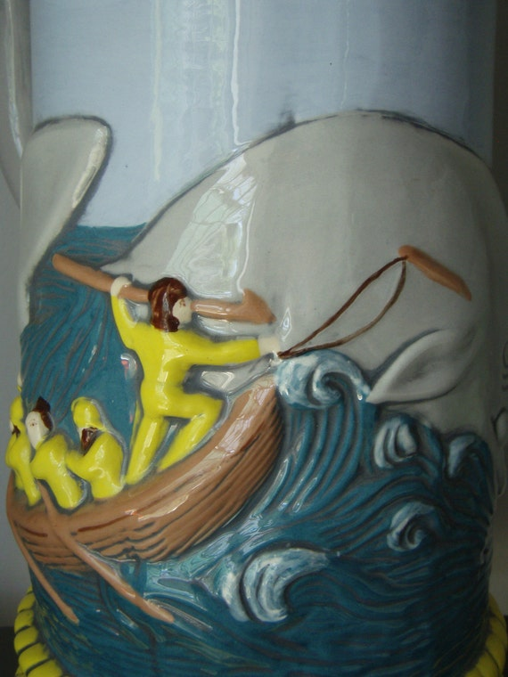 Whale Ceramic Stein Moby Dick