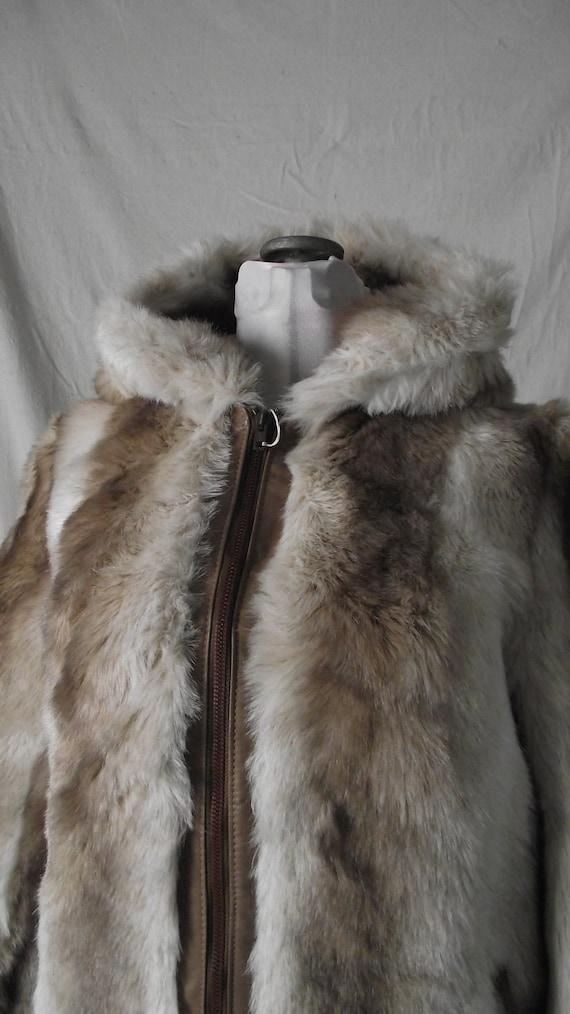 Womens Vintage Faux Fur Jacket Vintage Size 14
