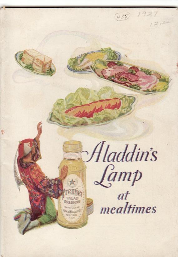 Vintage Cookbook 1930s Aladdins Lamp at Mealtimes Premier Foods