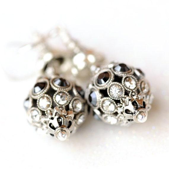 Statement crystal earrings, Swarovski crystal earrings, sterling silver earrings, Ilford earrings