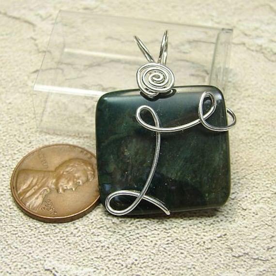 OOAK handmade Bloodstone Jasper sterling pendant