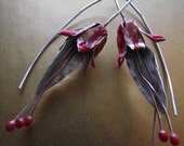 OOAK Fuchsia earrings