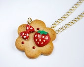 Red Strawberry Cookie Lolita Necklace