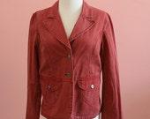 Sierra Red  Blazer, Red Blazer, Sporty Blazer, Woman's Outerwear, Red Jacket, Size Medium