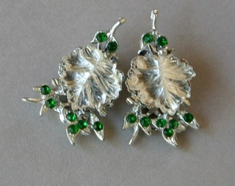 VINTAGE - Clip On Crystal Earrings