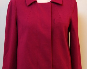 Talbots Fuscia Three Quarter Sleeve, Deep Pink Blazer, Ladies Blazer, Work Attire,  Size 4P