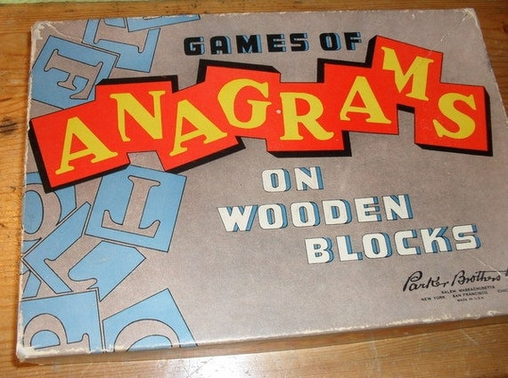 Sweet Anagram Letter Tiles Boxed Set of 130 tiles reserved for Liz A. Day