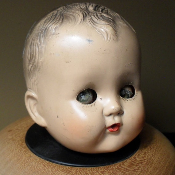 Vintage Ideal Creepy Eye Baby Doll Head