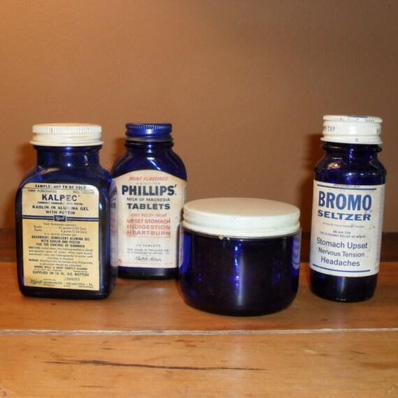 Vintage Cobalt Blue Bottle Collection