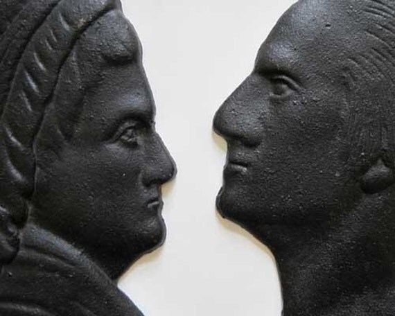 George and Martha Washington Cast Iron Silhouettes - SALE