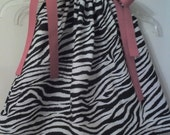 Sweet Zebra Pillowcase Dress Top 12m 18m