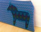 Dala Horse Cosmetic Bag