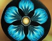 Blue Polymer Clay Flower Cane