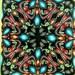 Starflower Polymer Clay Square Kaleidoscope Cane