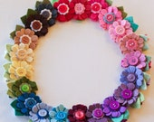 Felt Flower Hair Clip - A Rainbow of Daisies - You Choose TWO by Pretty in Posies on Etsy