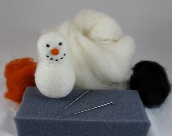 Needle Felting Kit - Make Your Own Snowman