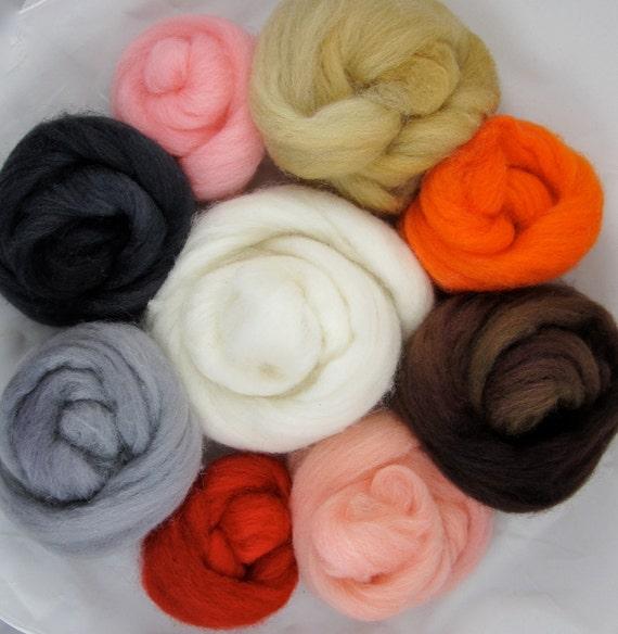 Needle Felting Wool Pack-Woodland Colors